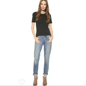 NEW agolde Jeane Casual Straight Jeans creamfields